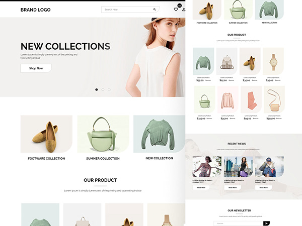 Shopify   Modern ecommerce website ux/ui design