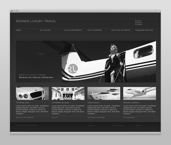 Webdesign - Rohner Luxury Travel