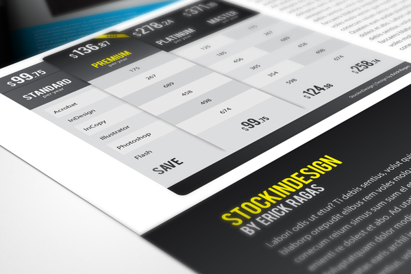 20 InDesign Modern Pricing Tables | FREEBIE on Behance