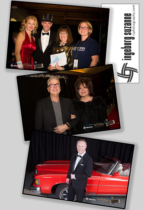 Oscars Eve Party Sechelt Rotary Marilyn Munroe Bob Hope Ingeborg Suzanne Inge Hardman
