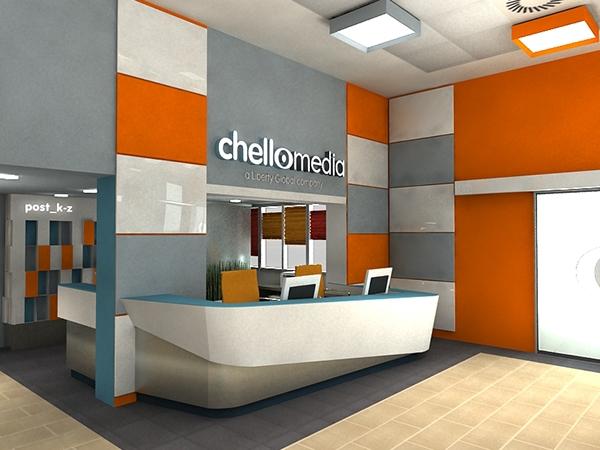 Chello Central Europe - Reception interior design on Behance
