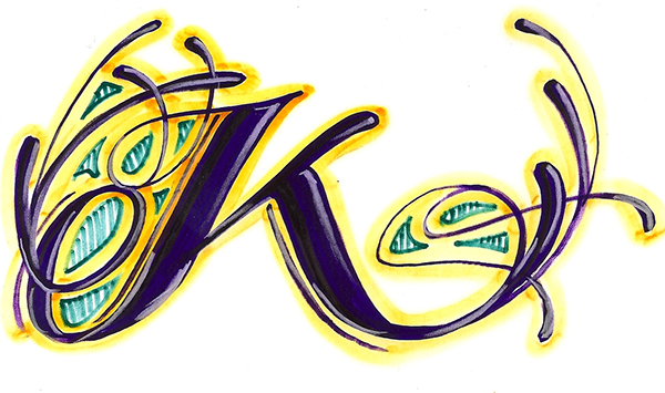 Letter K In Different Styles Traffic Club