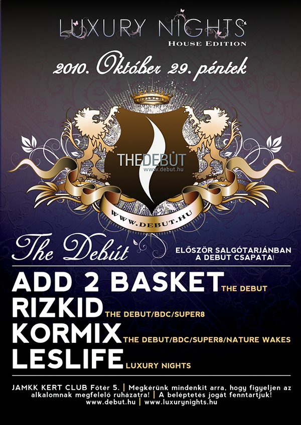 debut flyer party