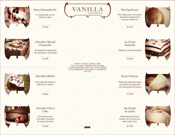 Vanilla Cake Coffee Cafe Menu On Pantone Canvas Gallery