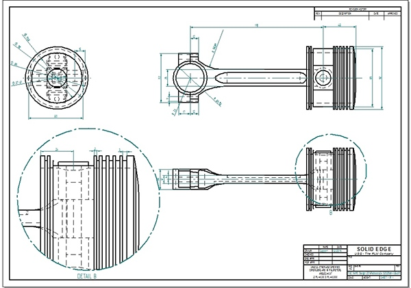 connecting rod 2d drawing pdf