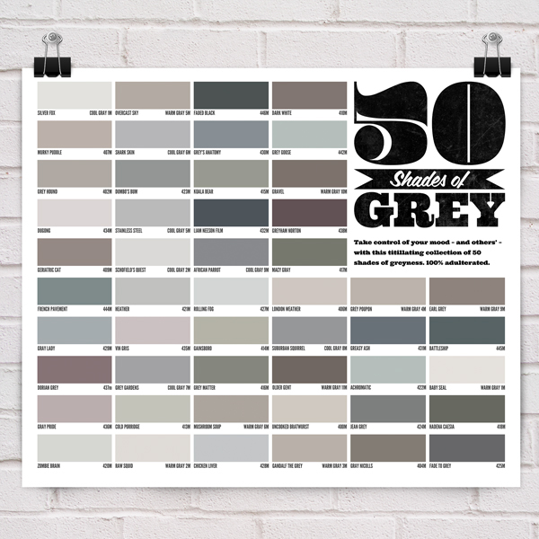 Different Shades Of Gray 50 shades of grey poster on behance