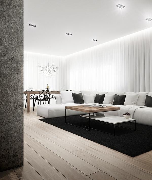 interiors contemporary minimalist cutout  architects