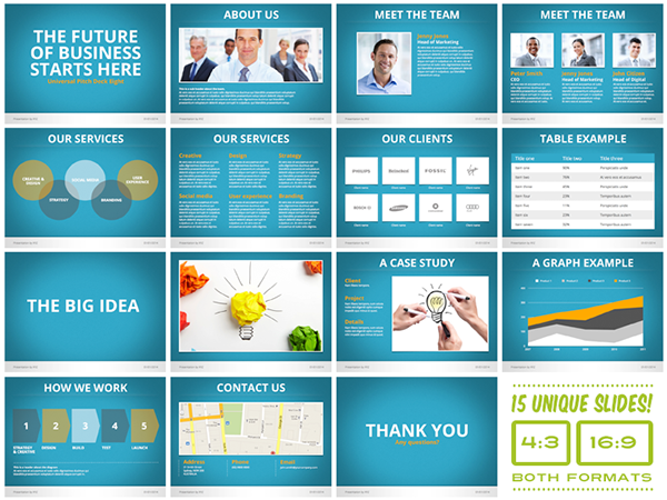 Universal pitch deck eight powerpoint template on behance flashek Image collections