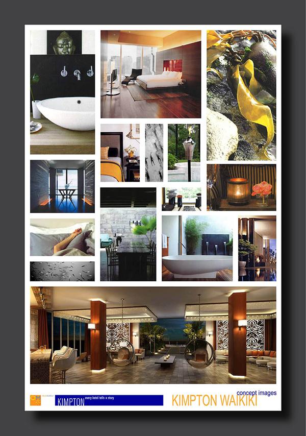 Kimpton hotels presentation materials on behance