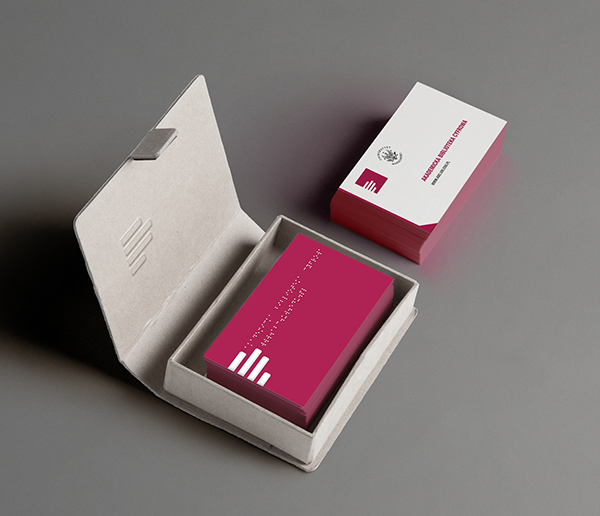 Logo braille card on behance business card with braille is a part of a project called academic digital library for university of warsaw an educational platform for readers with reheart Choice Image