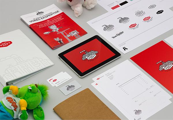 Ibsens Fabrikker identity stationary business card visual identity logo brand