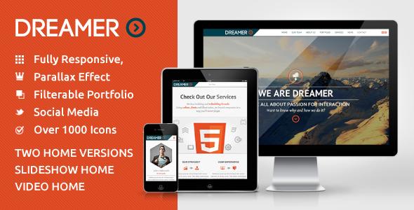 Dreamer - Photo & Video Parallax WordPress Theme on Behance