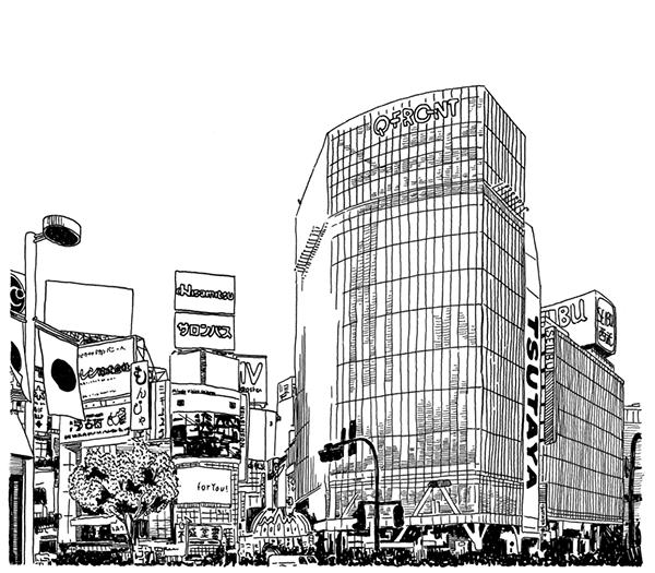 Views Of Japan Drawing Series On Behance