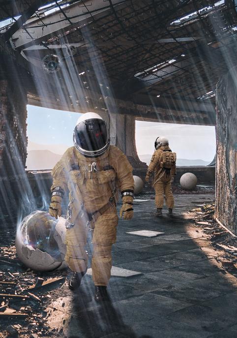 alien astronaut egg ruin science fiction sphere