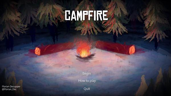 Campfire guitar relax fire camp
