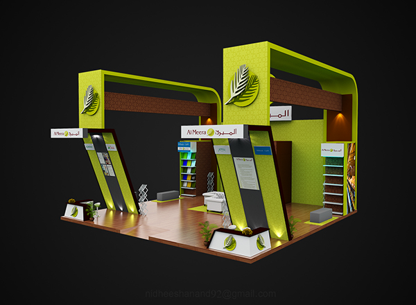 Exhibition Stand Qatar : Exhibition stand design for al meera qatar on behance