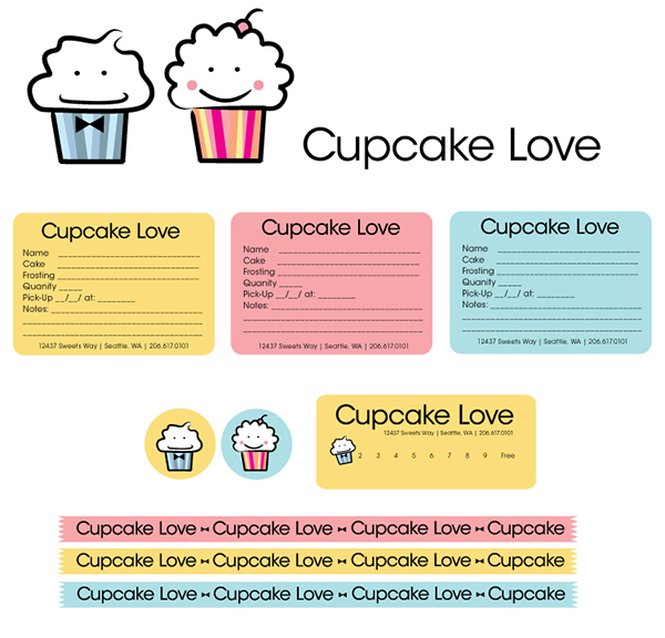 cupcake order form template free