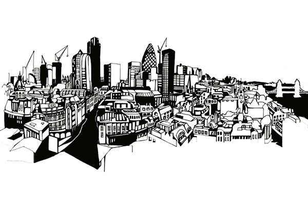 London Skyline Locker Graphics On Behance