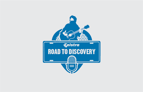 Telstra Road to Discovery band poster talent show Retro