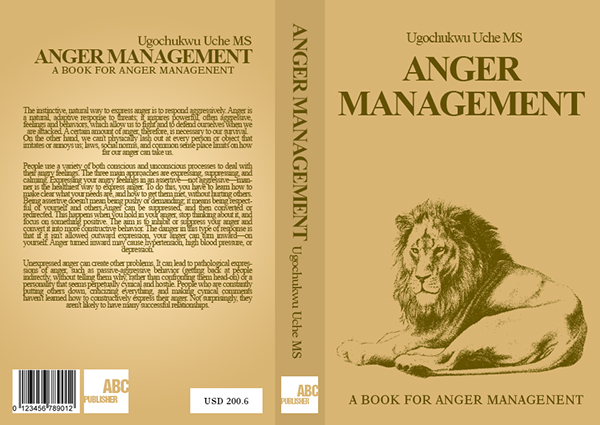 book book cover Book Cover Design lion anger manadement