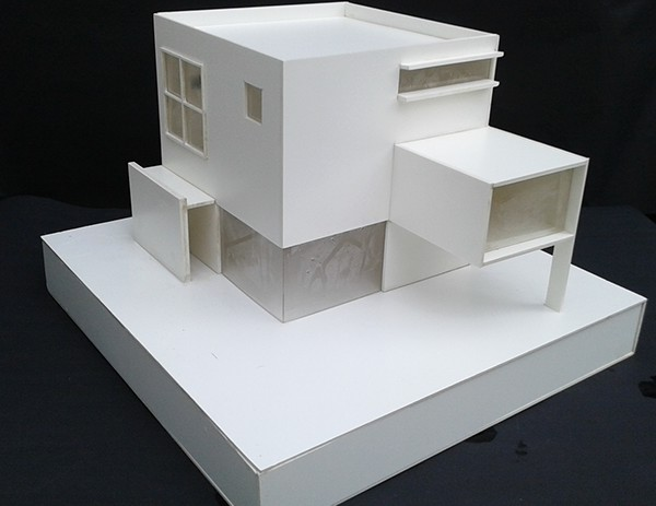 Maqueta casa habitaci n on behance - Maqueta casa up ...