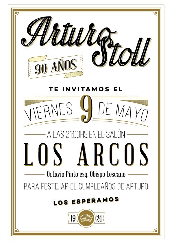 birthday invitations arturo stoll 90 a os on behance