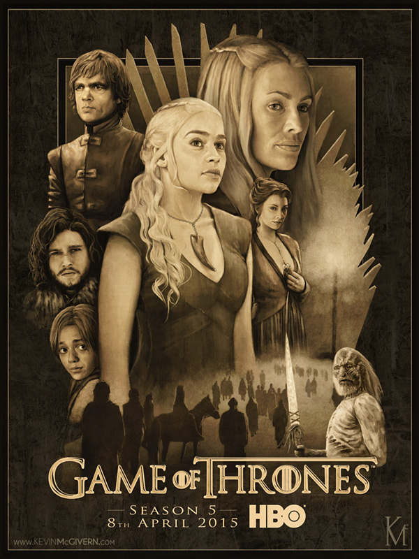 Game Of Thrones Season 5 Poster On Behance