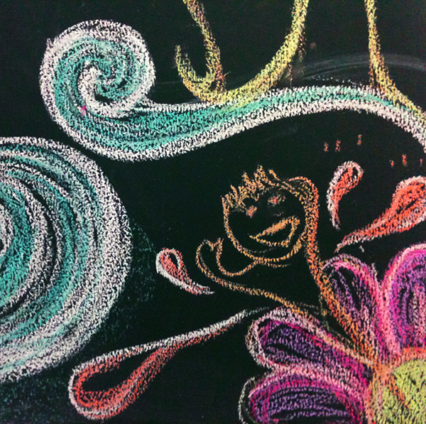 dragon new year blackboard graphic art happy funny chalk smile celebrate colleague Style personal Work  handpainting