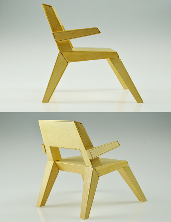 Chair model 1x4 scale on risd portfolios for New model chair design