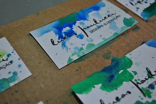 identity personal watercolor handmade businesscard selfpromotion portfolio color art design Brazil Brazilian designer logo brand