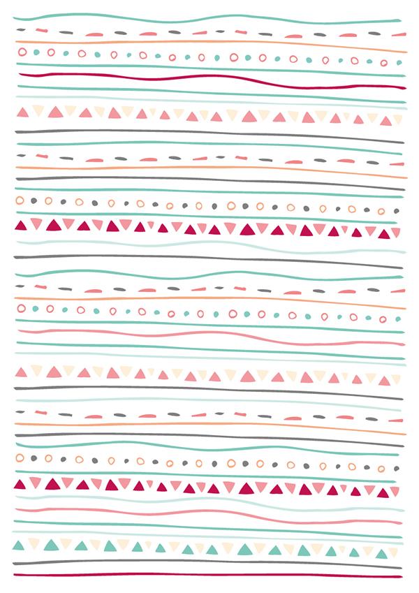 Simple Aztec Pattern on Pantone Canvas Gallery