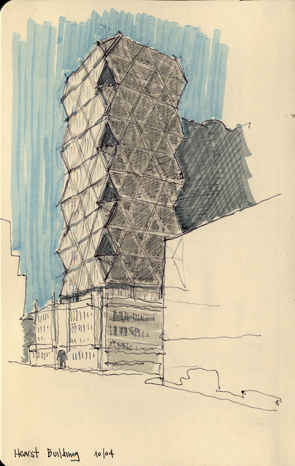 Ny Amp Chicago Architecture Sketches On Behance