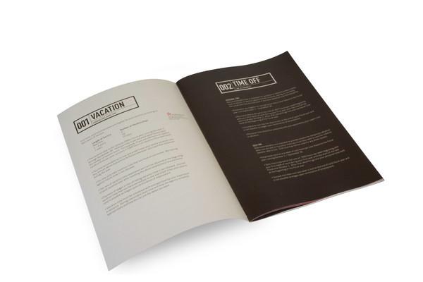 Handbook On Behance - Employee handbook design