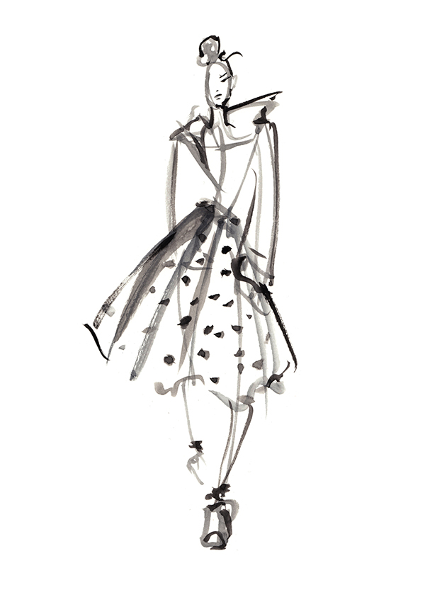 Live Runway Sketches From London Fashion Week Ss13 On Behance