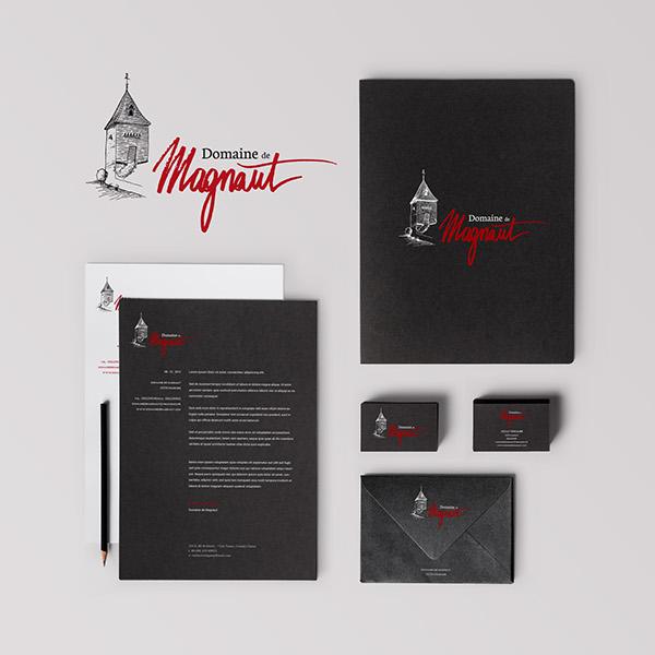 Inspiration Logo Vin - Domaine de Magnaut - Identité Visuelle