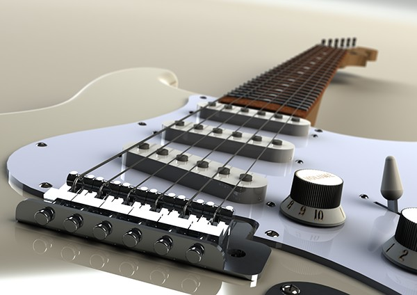 fender stratocaster solidworks model on behance. Black Bedroom Furniture Sets. Home Design Ideas