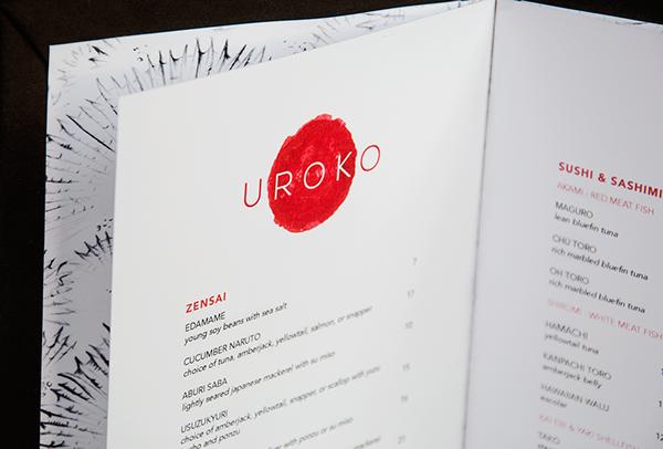 restaurant menu menu design Sushi japan japanese asian Food  screen printing screen print cuisine modern