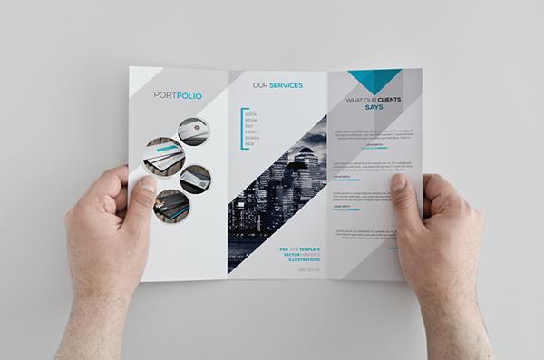 brochure trifold design freebie template print portfolio creative Windows 8 store artwork clean sleek