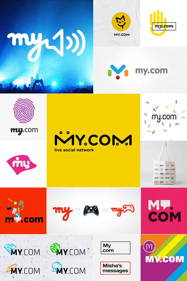 logo identity my my.com social Web icons product mail