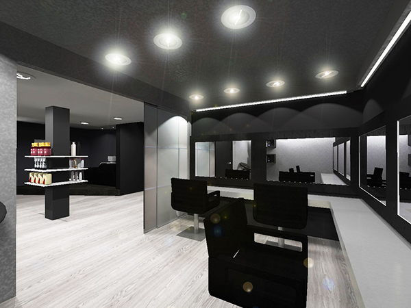 am nagement d 39 un salon de coiffure on behance. Black Bedroom Furniture Sets. Home Design Ideas