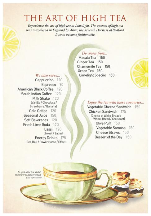 afternoon tea menu template - high tea menu on behance