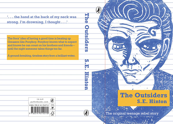 Book Cover Competition ~ The outsiders book cover design on behance