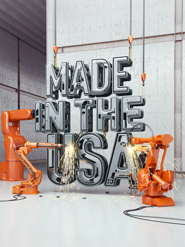 usa 3D lettering CGI 3D Type Time Magazine  cover design