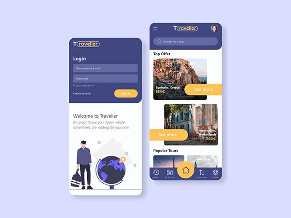 Travel app - Traveller