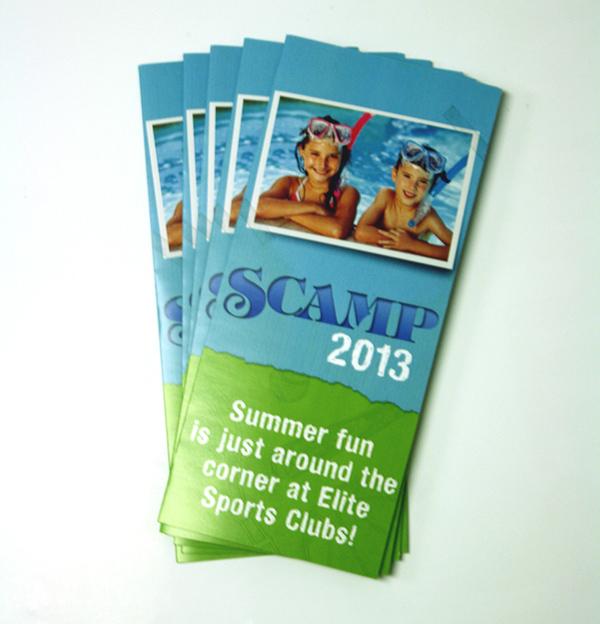 brochure summer summer camp tape torn paper Milwaukee Wisconsin