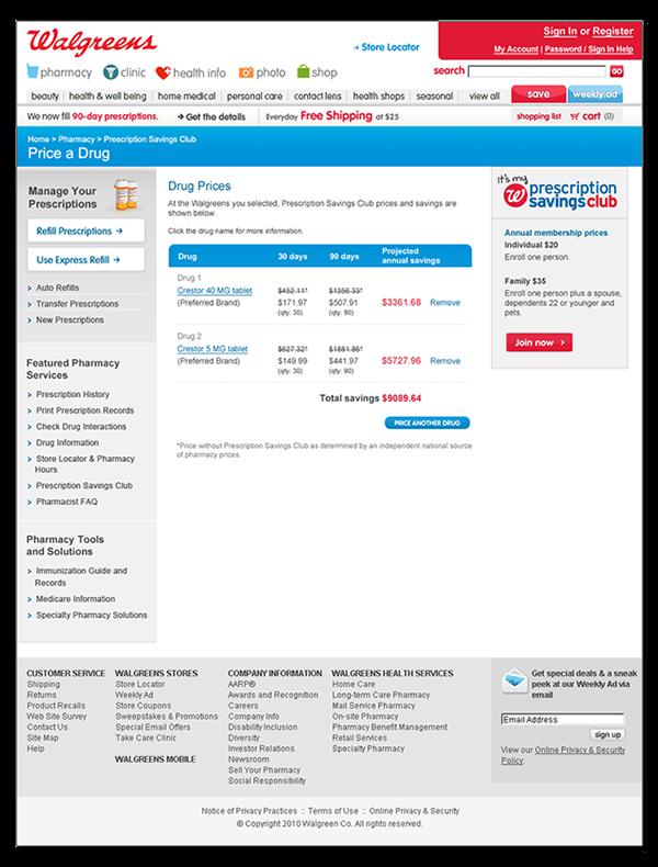 walgreens prescription savings club art direction uiux web design - Walgreens Prescription Card
