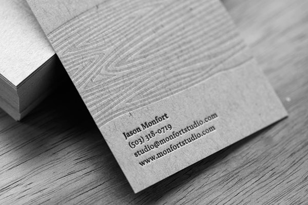 Letterpress business cards on behance letterpress business cards for jason monfort a custom wood designer in portland oregon colourmoves Image collections