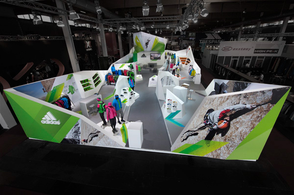 Outdoor Exhibition Booth Design : Adidas outdoor trade show booth on behance