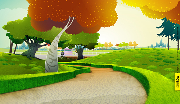 2d animation bg on behance - 2d nature wallpapers ...