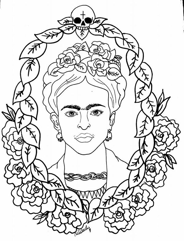 Frida Kahlo Paintings Coloring Pages Coloring Pages Frida Kahlo Coloring Pages